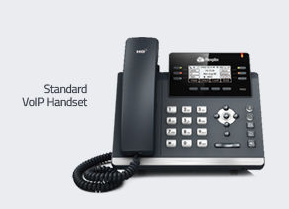 Hosted phone system and handsets
